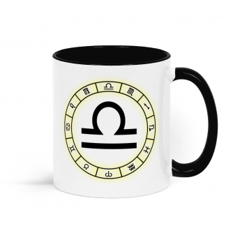 Zodiac star sign Libra from the 23rd September to 22nd October Black and White