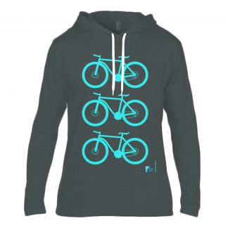 Designer Long Sleeve Hooded T Shirt With Mountain Bike Design Black Sizes S 34/36 M 38/40 L 42/44 XL 46/48 XXL 50/52